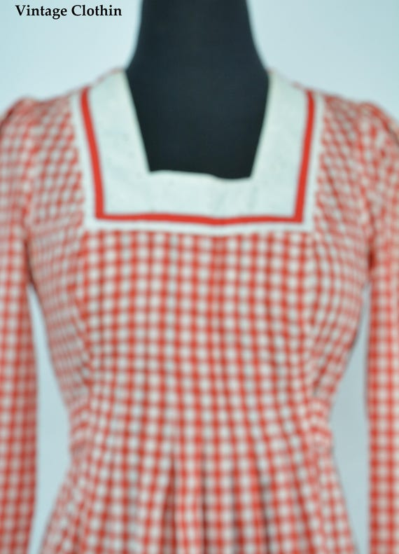 1970s Gingham Dress, 1970s Dress, 70s Dress, Vint… - image 3