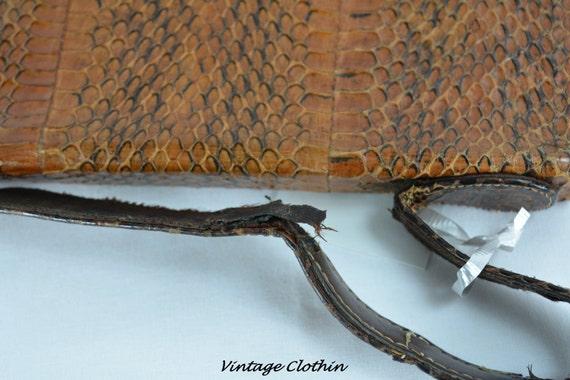 c1940s Snakeskin Purse, Vintage Purse, Vintage Ha… - image 4