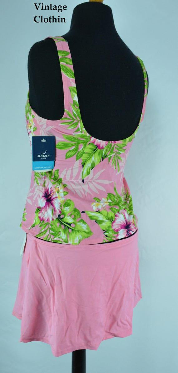 1990s Jantzen Pink Two Piece Bathing Suit, Bikini… - image 6