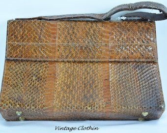 c1940s Snakeskin Purse, Vintage Purse, Vintage HandBag, Purse, Vintage Snakeskin Purse, Snakeskin Purse, 1940s Purse, 1940s Handbag, Handbag
