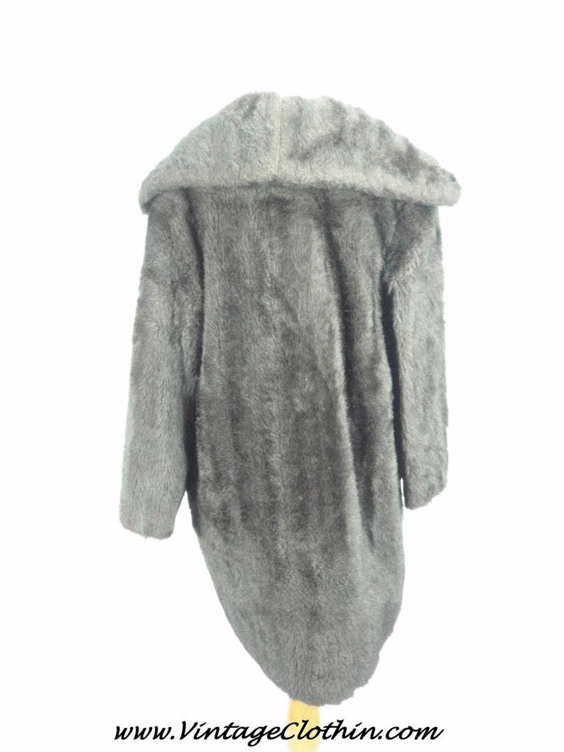 1950s1960s Vintage Faux Fur BrownBlack Coat Faux Fur Coat Faux Fur Coat Vintage Coat BrownBlack Faux Fur Coat, Vintage Fur Coat