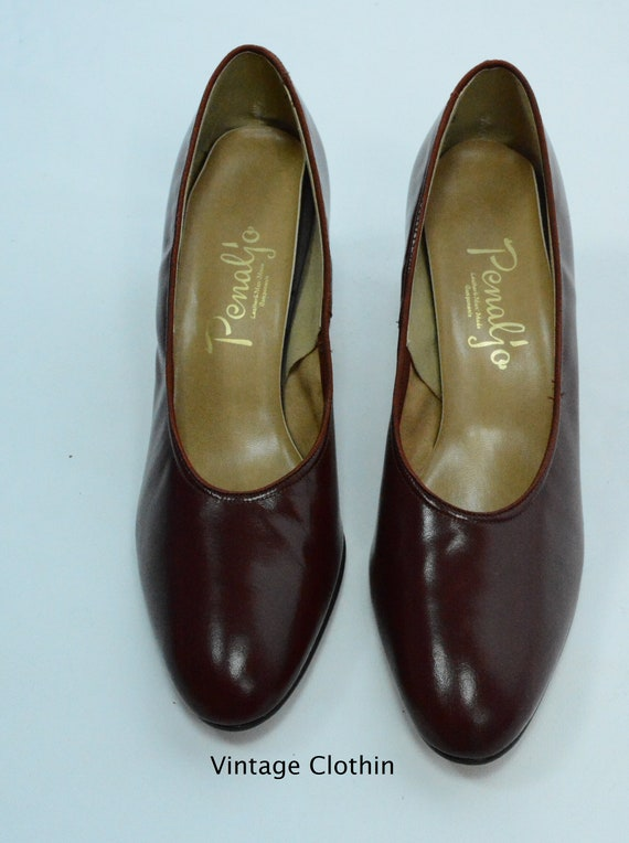 1980's does 1950s Penaljo Wine Color Pumps, New O… - image 4