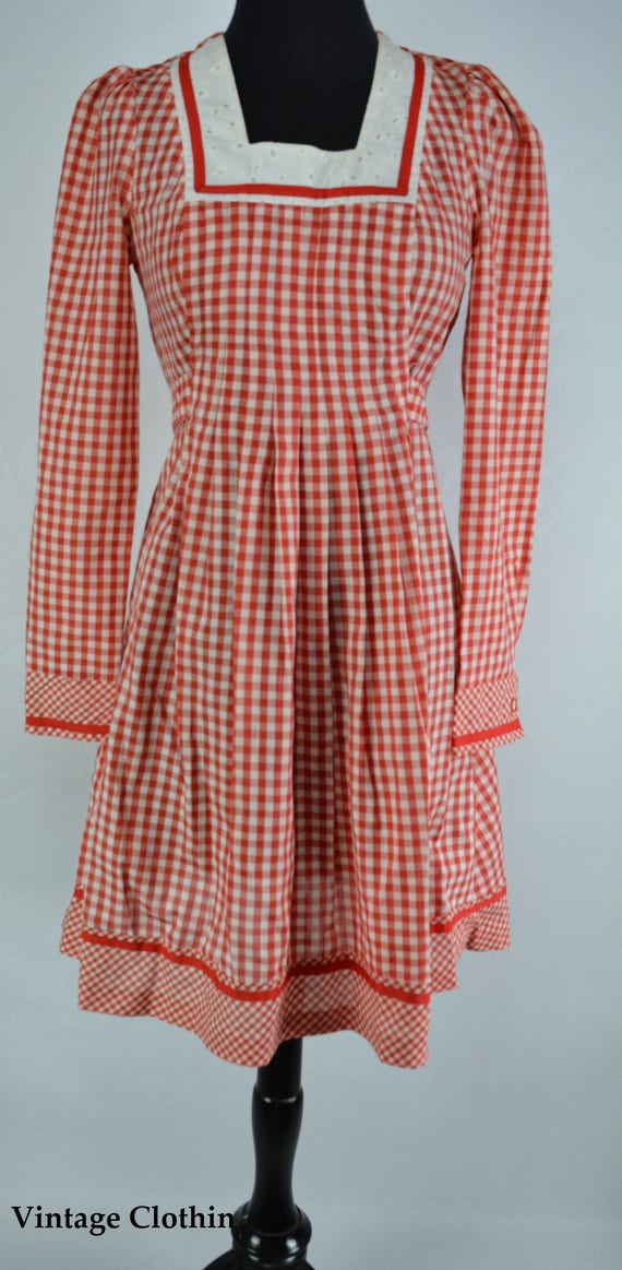 1970s Gingham Dress, 1970s Dress, 70s Dress, Vint… - image 2