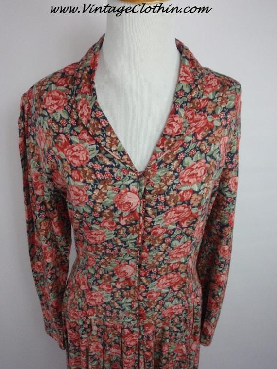 1980s Laura Ashley Floral Dress, Vintage Dress, 1… - image 5