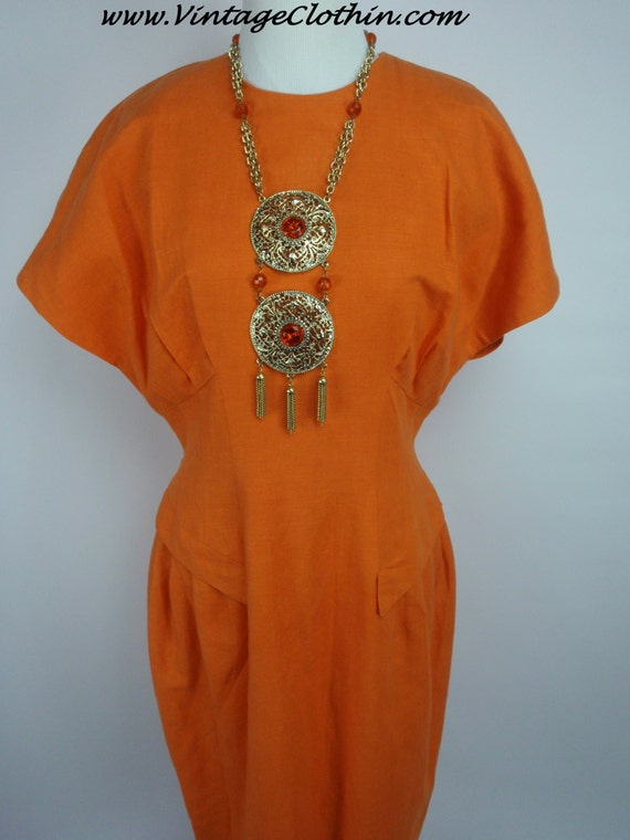 1980s Does 1950s C.M.V  Wiggle Dress, Vintage 1980