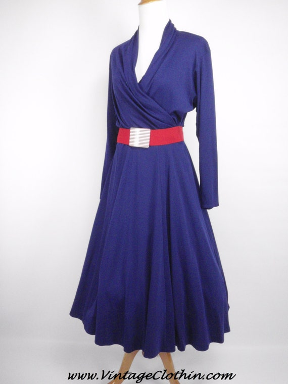 1980s does 1950s Toni Todd Royal Blue Rockabilly D