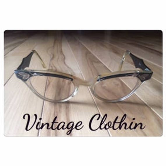 1950s Mother of Pearl & Filigree Cats Eye glasses,