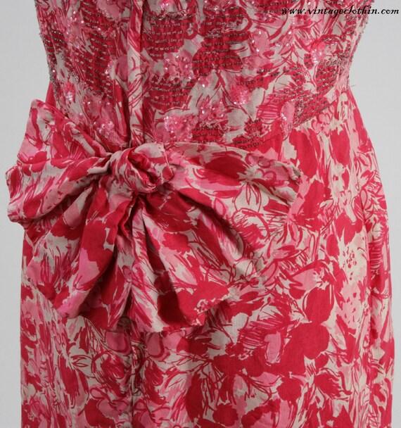 1950s Beaded Wiggle Dress, 1950s Dress, Wiggle Dr… - image 4