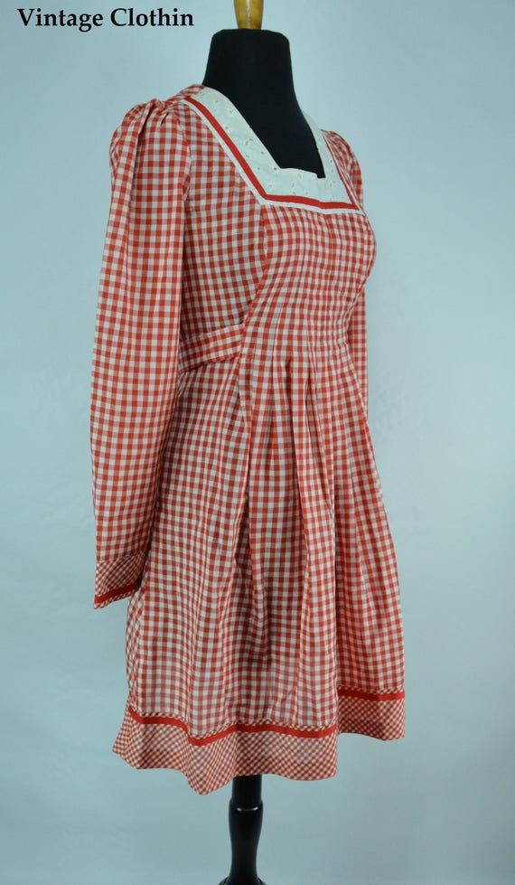 1970s Gingham Dress, 1970s Dress, 70s Dress, Vint… - image 1