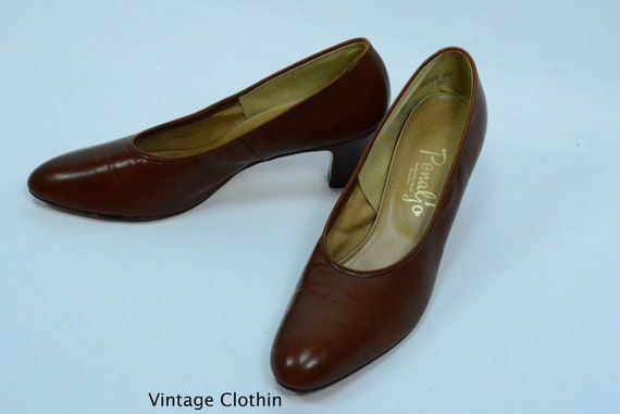 1980's does 1950s Penaljo Tan Brown Pumps, New Ol… - image 4