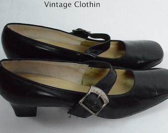 1960s Auditions Black Pumps, New Old Stock, 1960s Pumps, 60s Shoes, 60s Pumps, 1960s Shoes, Vintage Shoes, Auditions Shoes, 1960s Mod Shoes