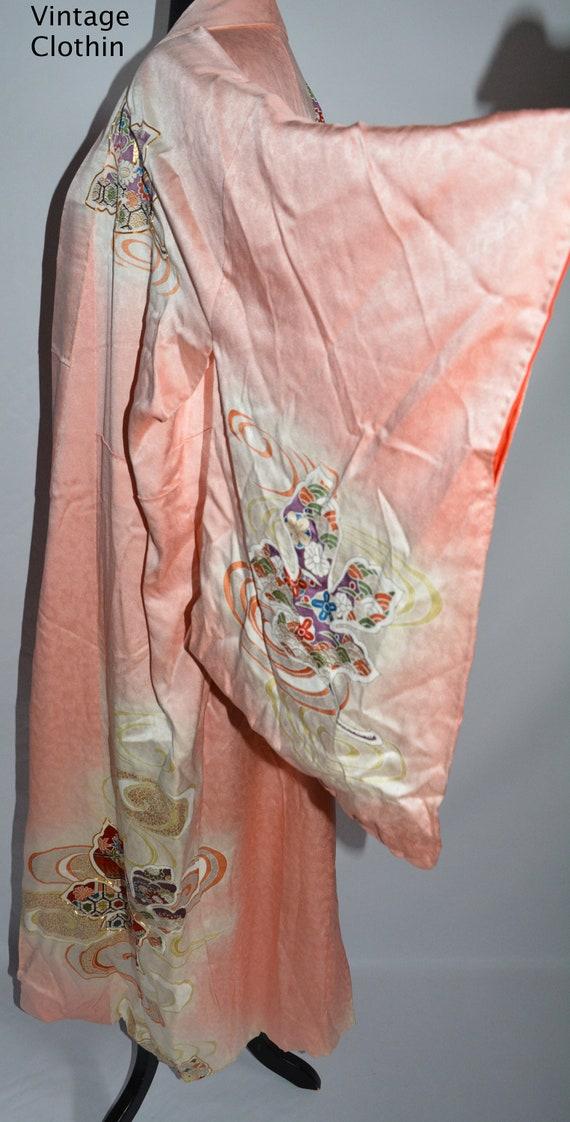 C1940s Vintage Japanese Kimono, Kimono, Kimono Ro… - image 3