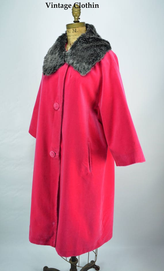 1960s Spoet Ease Fashions Deep Pink Coat, 1960s Sp