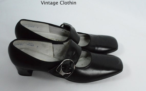 1960s Spectrums by Selby Black Pumps, New Old Stoc