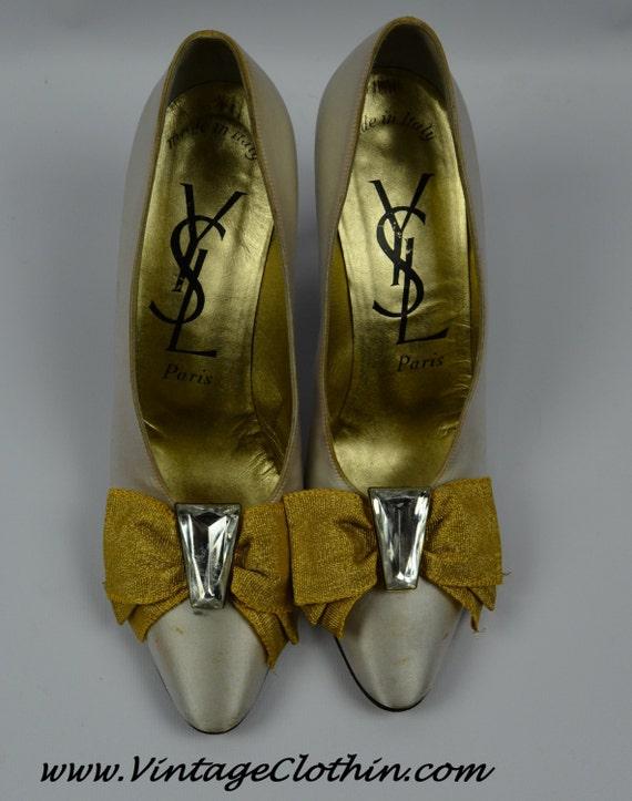 1980s Vintage Yves Saint Laurent Shoes, YSL Shoes… - image 5