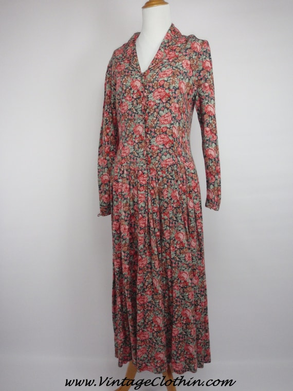 1980s Laura Ashley Floral Dress, Vintage Dress, 19