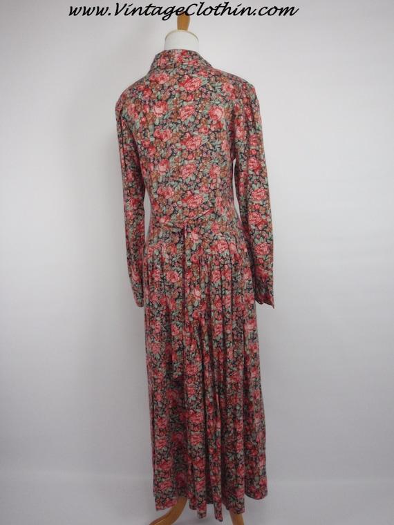 1980s Laura Ashley Floral Dress, Vintage Dress, 1… - image 3
