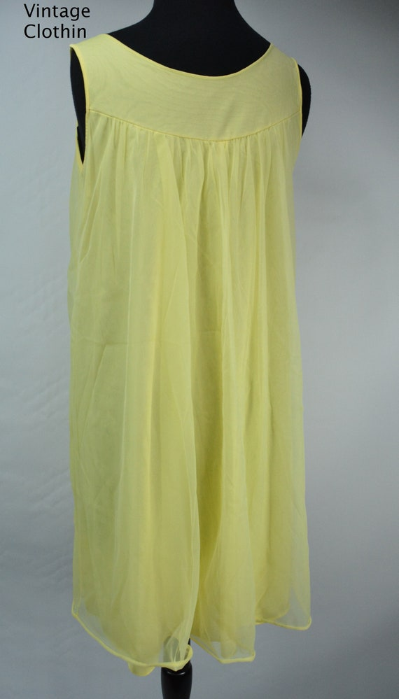1960s Komar Yellow Baby Doll Nightgown, Nightgown… - image 5