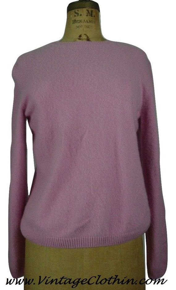 Vintage Investments Fine Cashmere Pink Sweater, Ca
