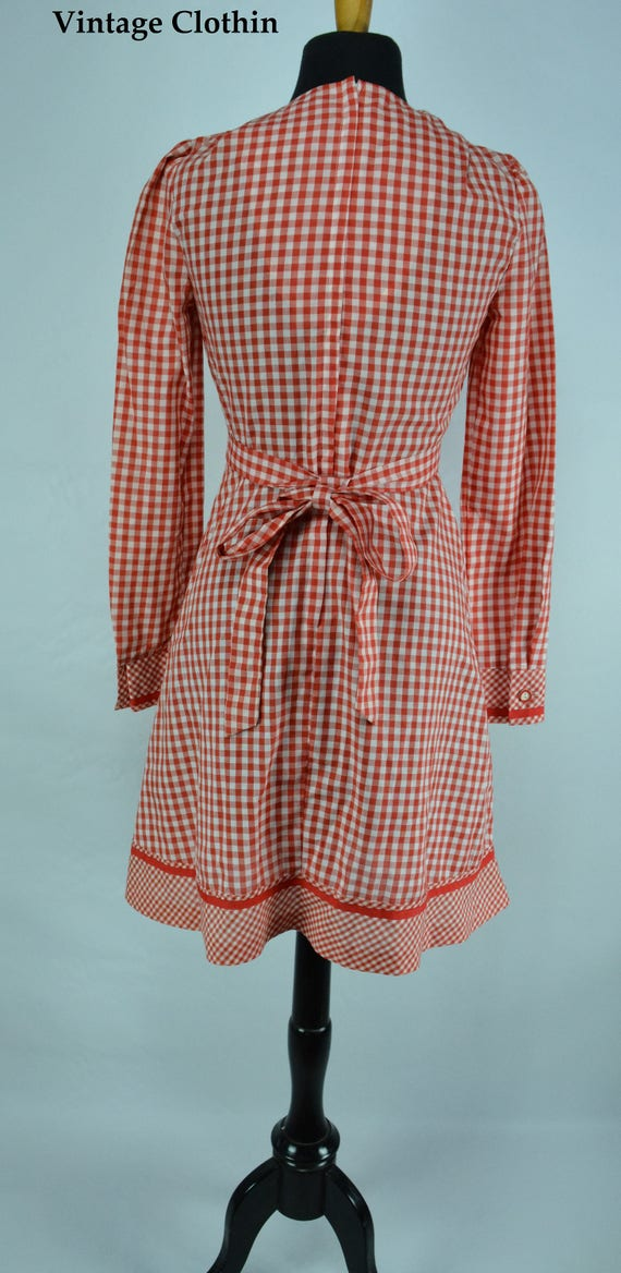 1970s Gingham Dress, 1970s Dress, 70s Dress, Vint… - image 7