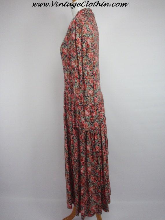 1980s Laura Ashley Floral Dress, Vintage Dress, 1… - image 2