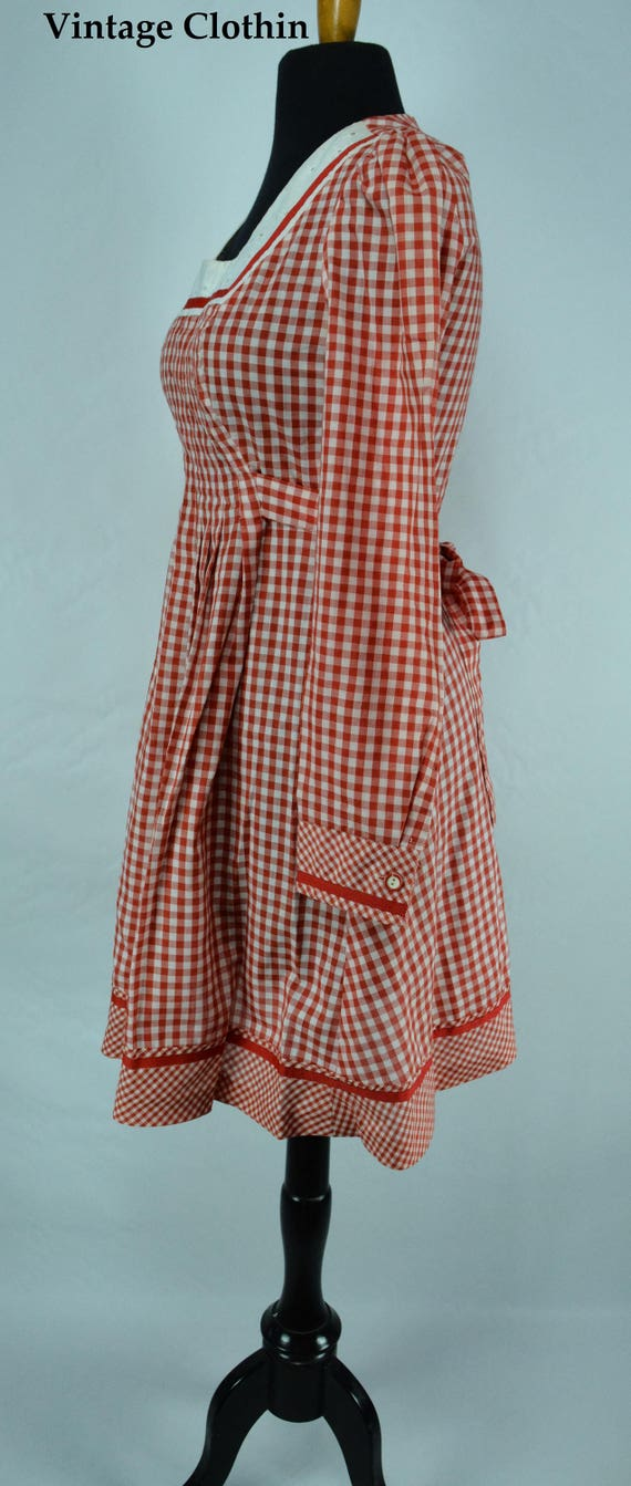 1970s Gingham Dress, 1970s Dress, 70s Dress, Vint… - image 6