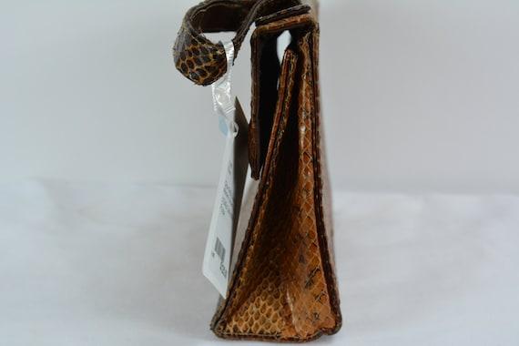 c1940s Snakeskin Purse, Vintage Purse, Vintage Ha… - image 3
