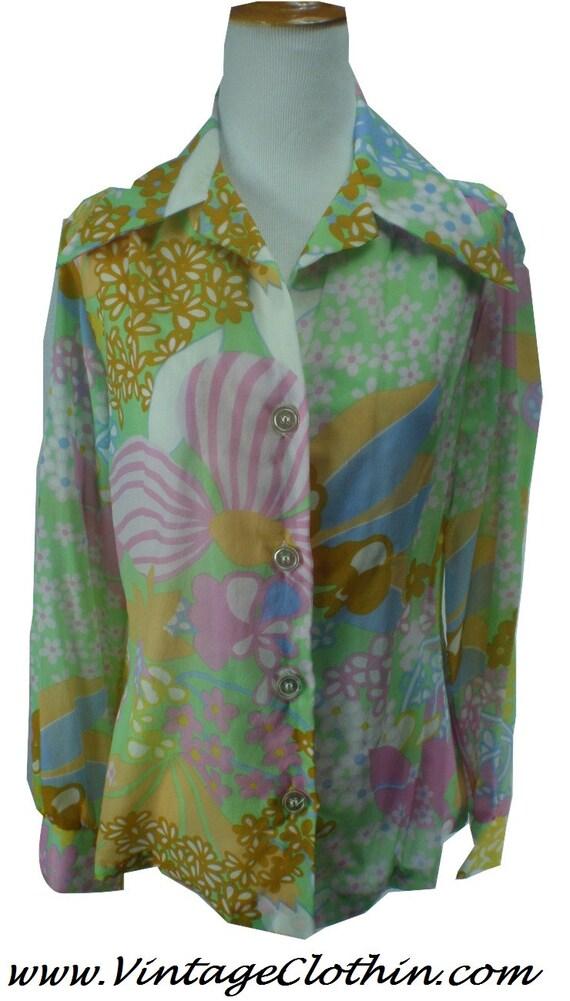 1970s Lady Arrow Blouse/Shirt, Lady Arrow Shirt, 1
