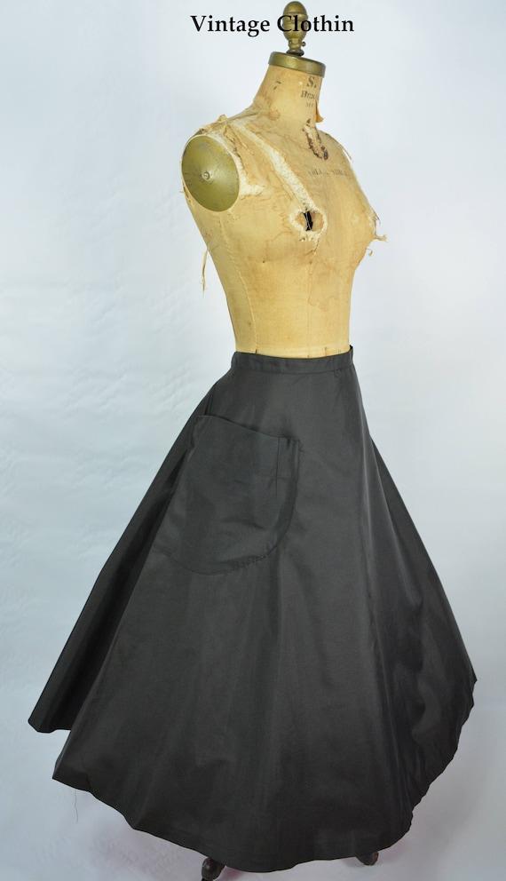 1950s Snyder Craft Full Circle Taffeta Skirt, 50s