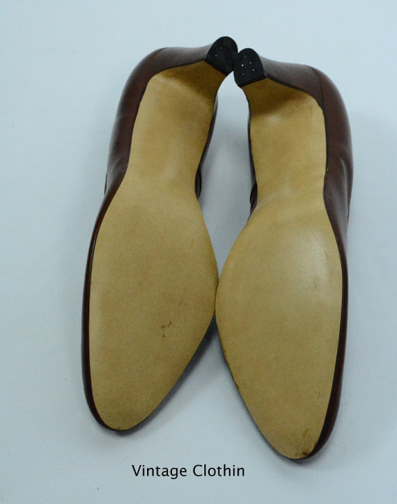 1980's does 1950s Penaljo Tan Brown Pumps, New Ol… - image 8
