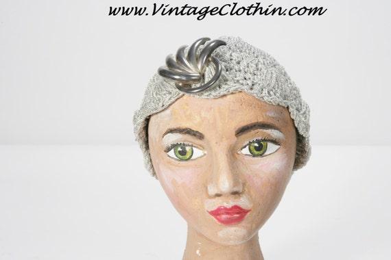1920s Crochet Cloche Flapper Hat, 1920s Hat, Flapp
