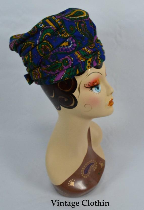 1960's Tall PillBox Hat, Turban Topper, 60s Hat, P