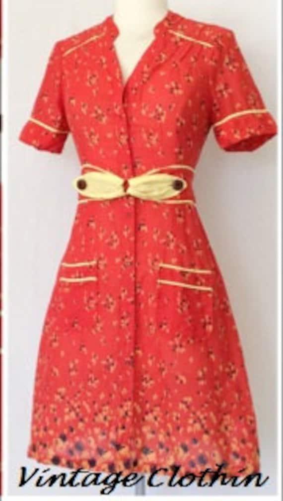 1980s does 1940s Kimchi & Blue Dress, 1980s dress… - image 3