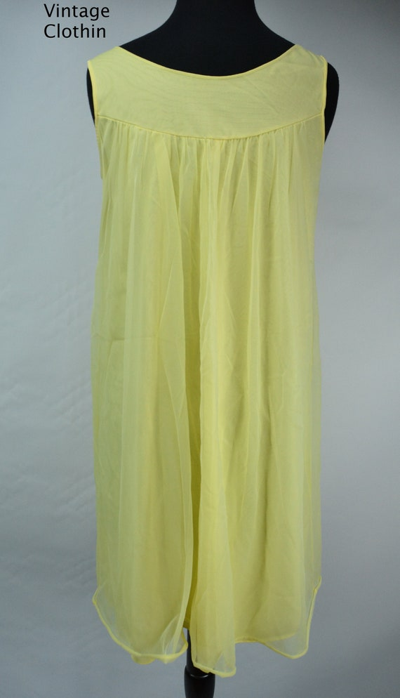 1960s Komar Yellow Baby Doll Nightgown, Nightgown… - image 6
