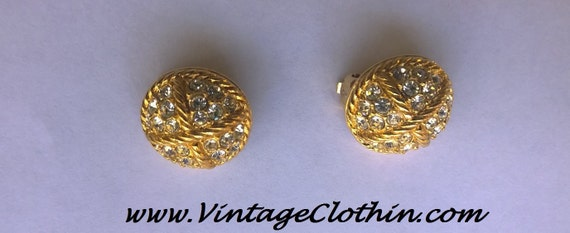 Vintage Swarovski Crystal Clip on Earrings, Vintag