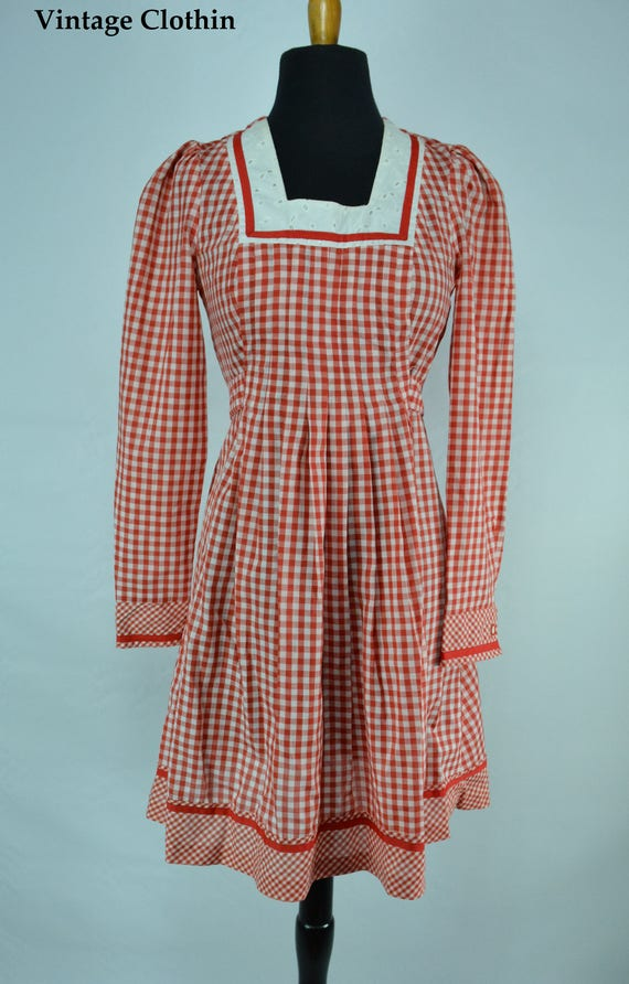 1970s Gingham Dress, 1970s Dress, 70s Dress, Vint… - image 9