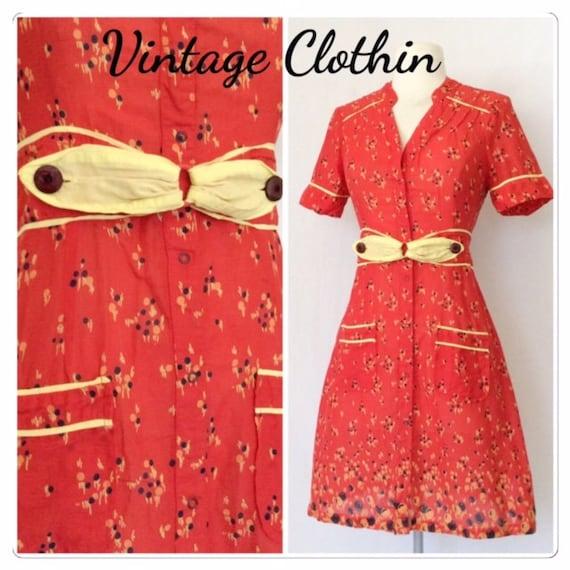 1980s does 1940s Kimchi & Blue Dress, 1980s dress,