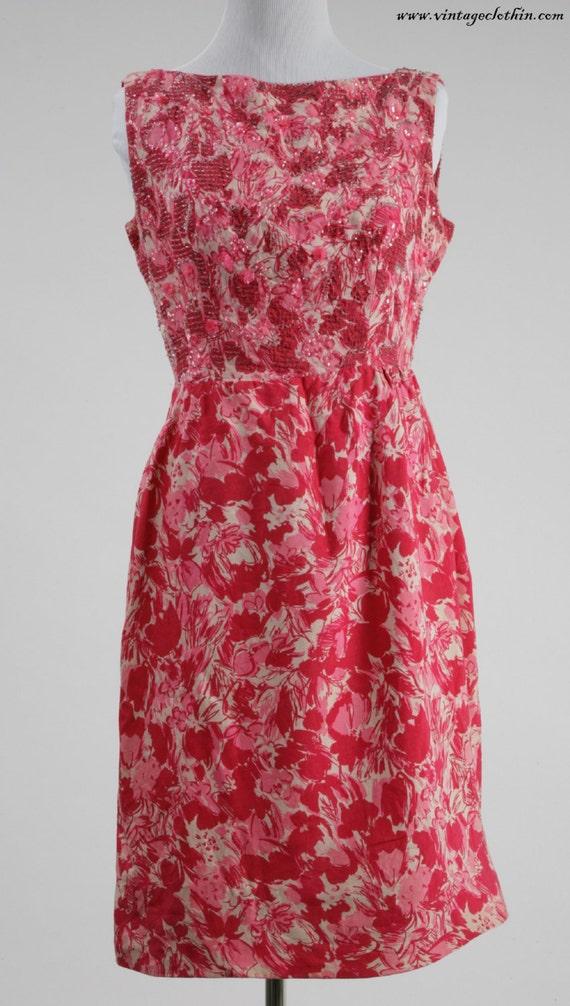 1950s Beaded Wiggle Dress, 1950s Dress, Wiggle Dre