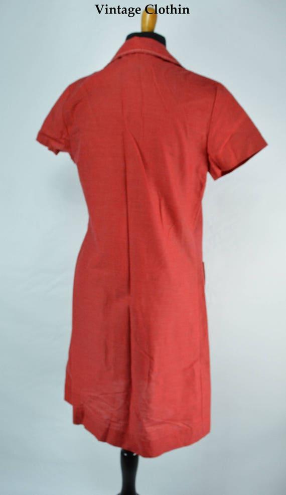C1970s Montgomery Ward Red Dress, 1970s Dress, 70… - image 6