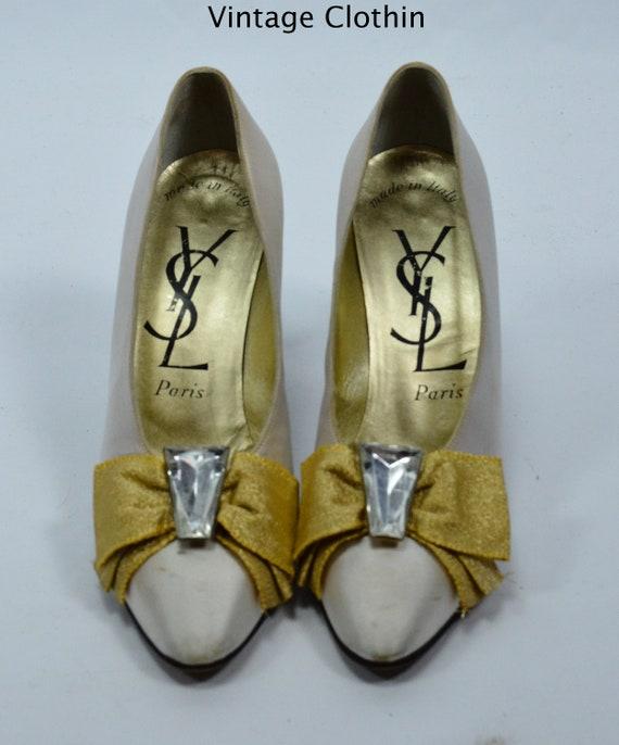 1980s Vintage Yves Saint Laurent Shoes, YSL Shoes… - image 3