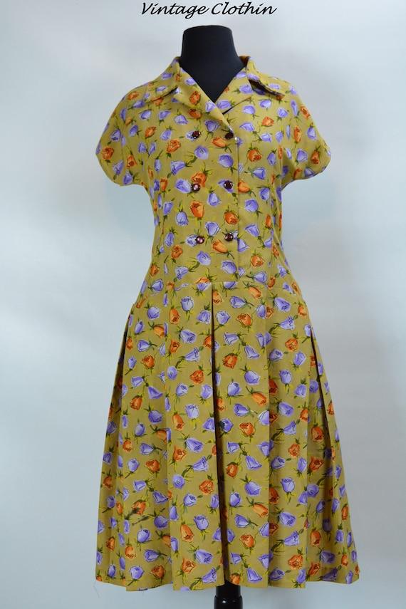 1960s Floral Dress, 1960s Dress, Vintage Dress, 19