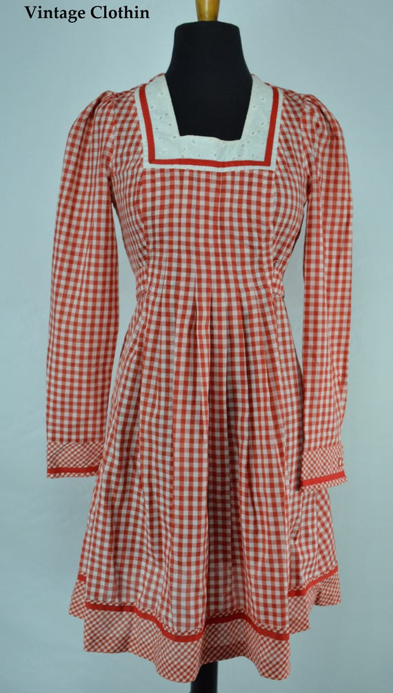 1970s Gingham Dress, 1970s Dress, 70s Dress, Vint… - image 5