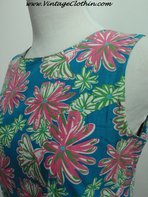 1990s Does 1960s Lilly Pulitzer Floral Shift Dres… - image 4