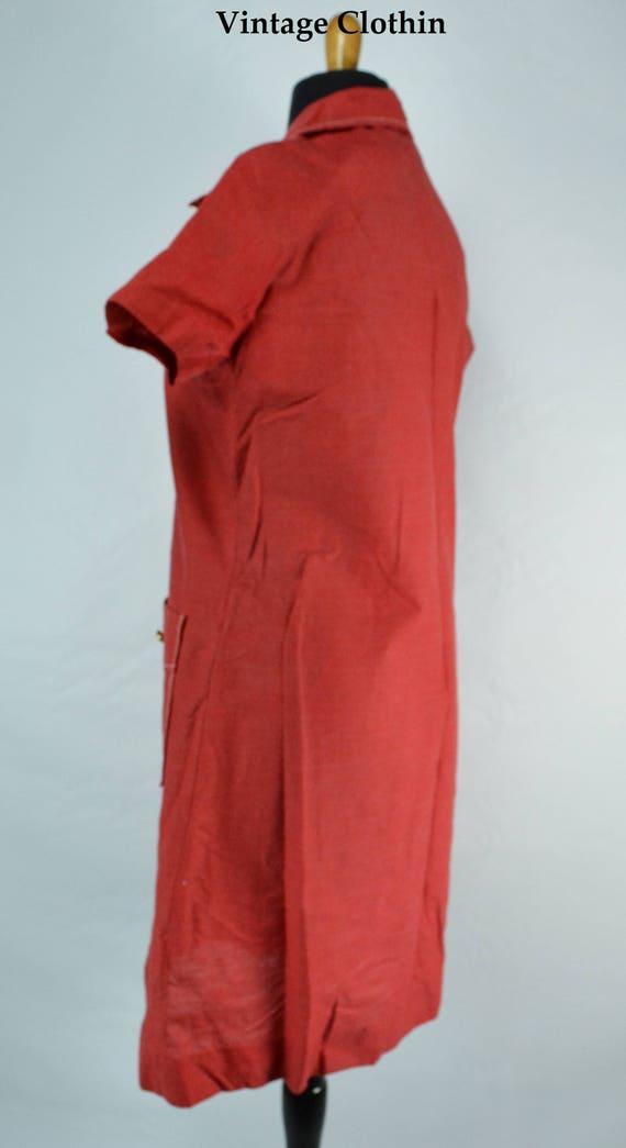 C1970s Montgomery Ward Red Dress, 1970s Dress, 70… - image 4