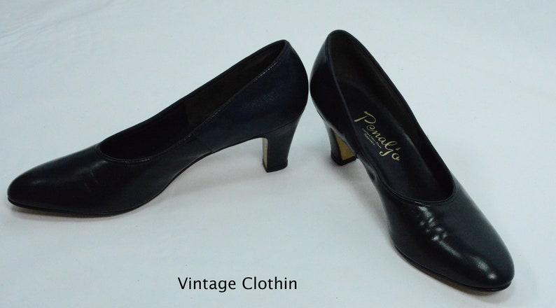 ba24162cd6e7a 1980's does 1950s Penaljo Navy Blue Pumps, New Old Stock, 1980s Pumps, Blue  Shoes, 80s Pumps, 1980s Shoes, Vintage Shoes, Penaljo Shoes