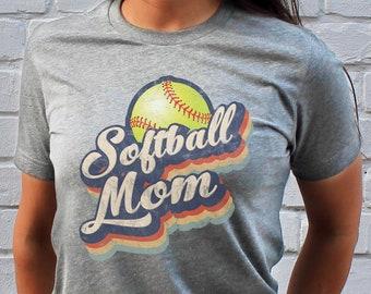 f57a7f57 Mom Softball Unisex Shirt, Retro 70s Style - Vintage Worn Texture, Softball  Mom Gift, Game Day Shirt, Softball Mom Shirt, Gift for Her