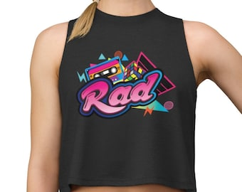 2bafaa63 80's Rad Crop Top, Retro 1980's Cropped Tee, Vintage Shirt, 80s Clothing, I  Love the 80s, Cassette Shirt, Throwback Shirt, Trending Shirts