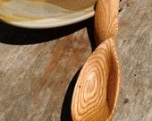 Wood Spoon, Hand-Carved Oak Spoon, Spiral Handle Wood Spoon, Hefty Spoon, Twist Handle Wood Spoon, Carved Oak Spoon - free shipping