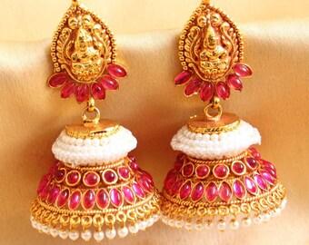 Jhumka/Oxidised Gold Jhumka/Jhumki/indian jewelry/earrings/indian earrings/Kemp Jewelry