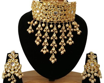 Traditional Necklace Set /Indian necklace | Wedding Jewelry/ Indian Jewelry |Indian Bridal Jewelry | Kundan Jewelry | Indian Wedding Jewelry